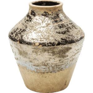 Vase Shimmery Gold Rose 21cm-$59