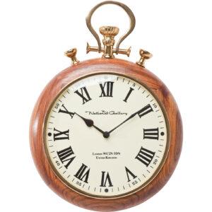 Wall Clock Pocket Wood-$89