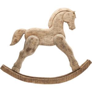 Deco Figurine Rocking Horse Nature - $50