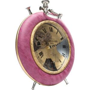 Table Clock Velvet Pink Time- $219