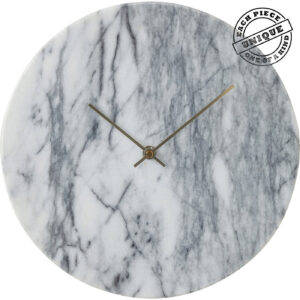 Wall Clock Desire Marble Weiß-$79