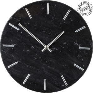 Wall Clock Desire Marble Black-$99