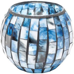Tealight Holder Mosaico Blue 10cm-$19