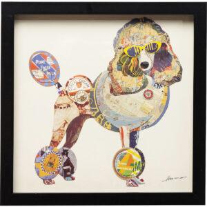Picture Frame Art Poodle 41x41cm- $89