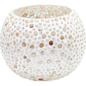 Tealight Holder Pearls Round-$29
