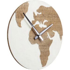 Wall Clock Antique Continent White Ø36-$89