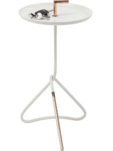 Side Table Elegance Nodo White Ø30cm- $99