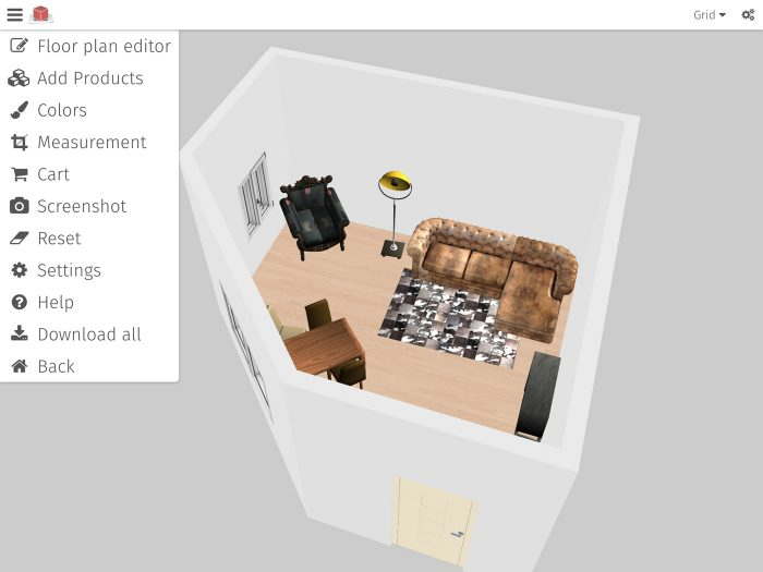 3D Roomdesigner App - 3D Planung und Augmented Reality