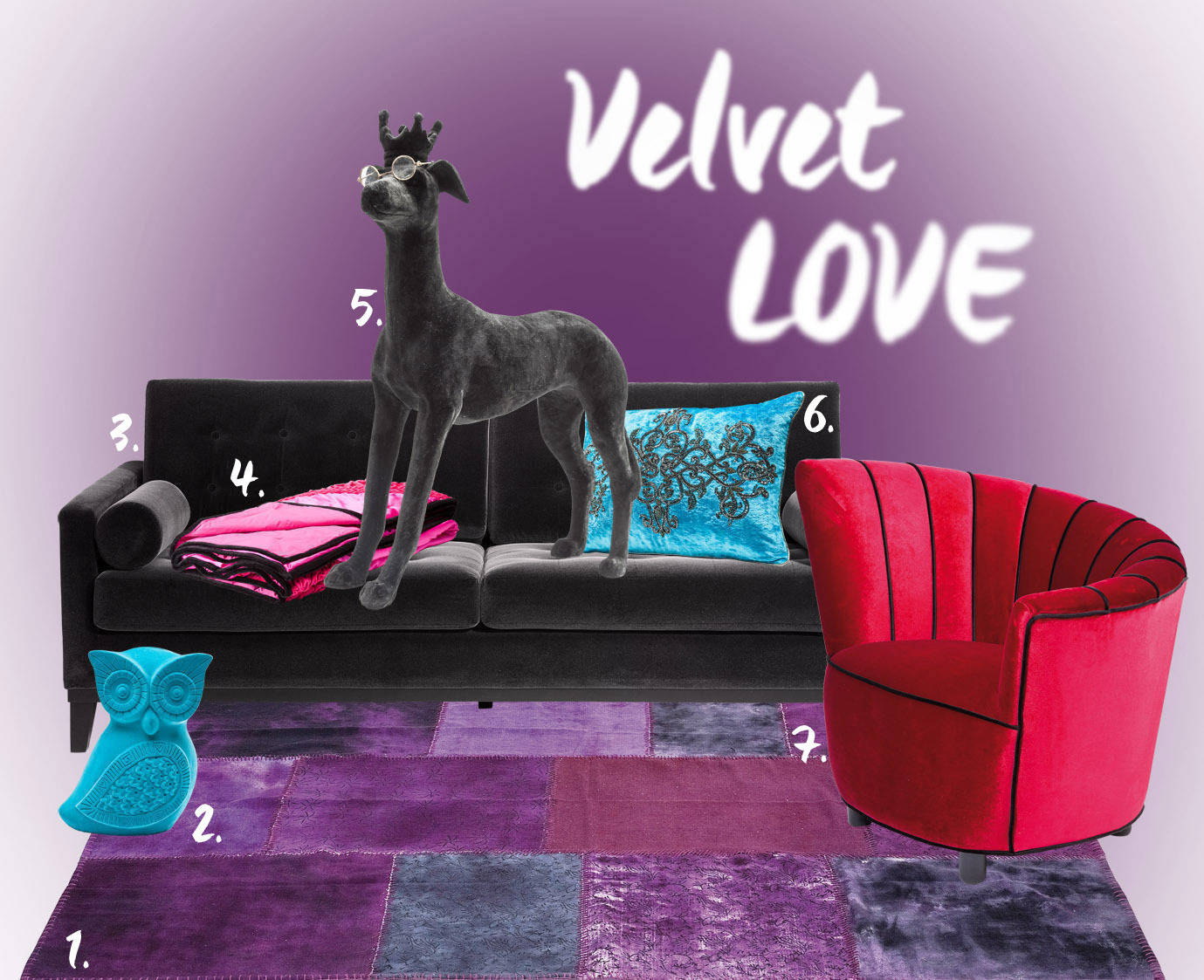 we love velvet the luxurious glamour fabric. Black Bedroom Furniture Sets. Home Design Ideas