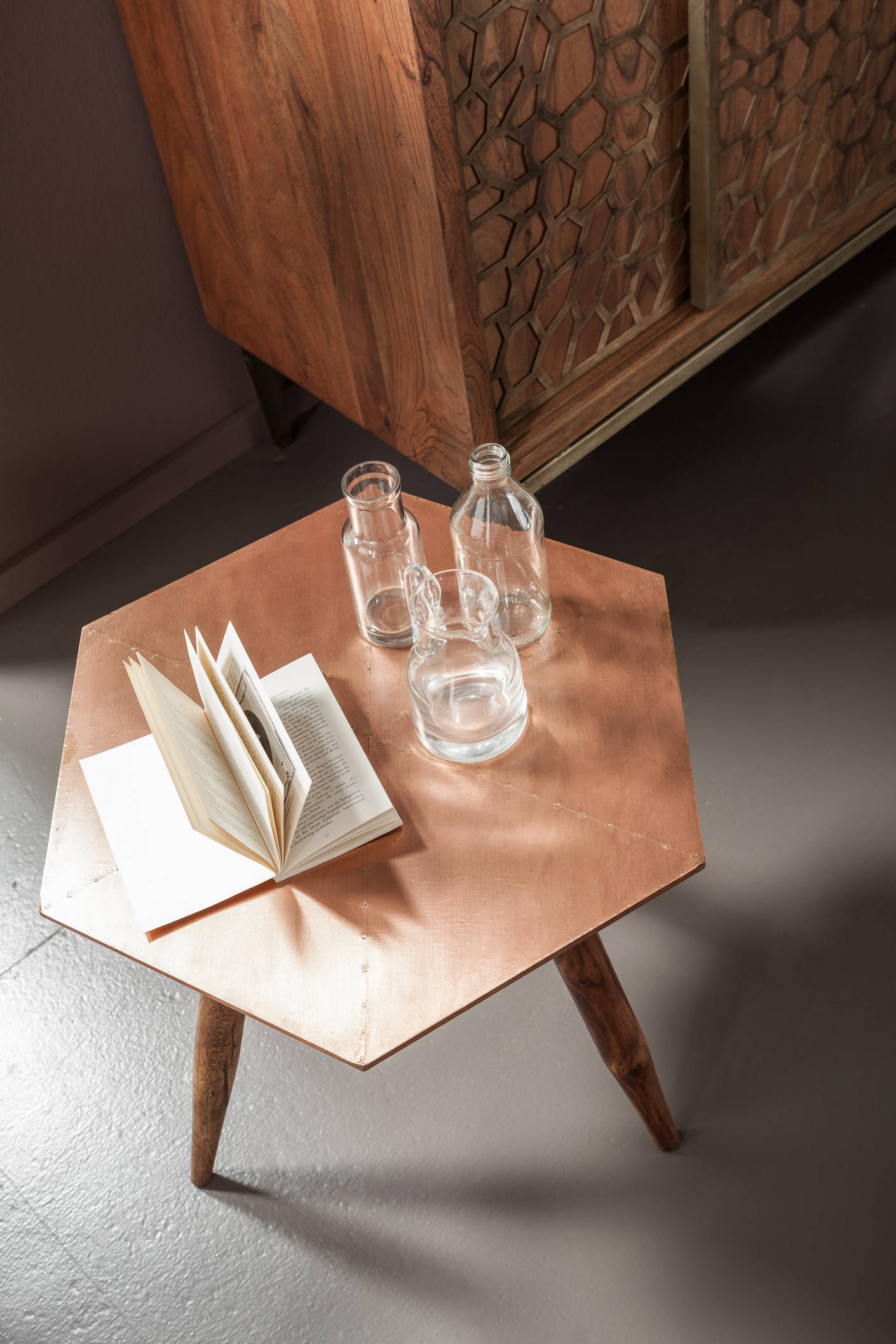 Table d'appoint Mesh Brass Kare Design