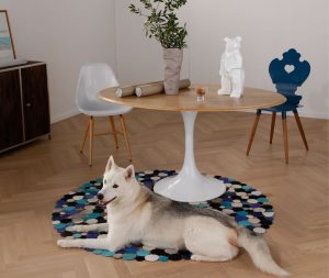 KARE-BlueWhiteSnow-Carpet-Colourful