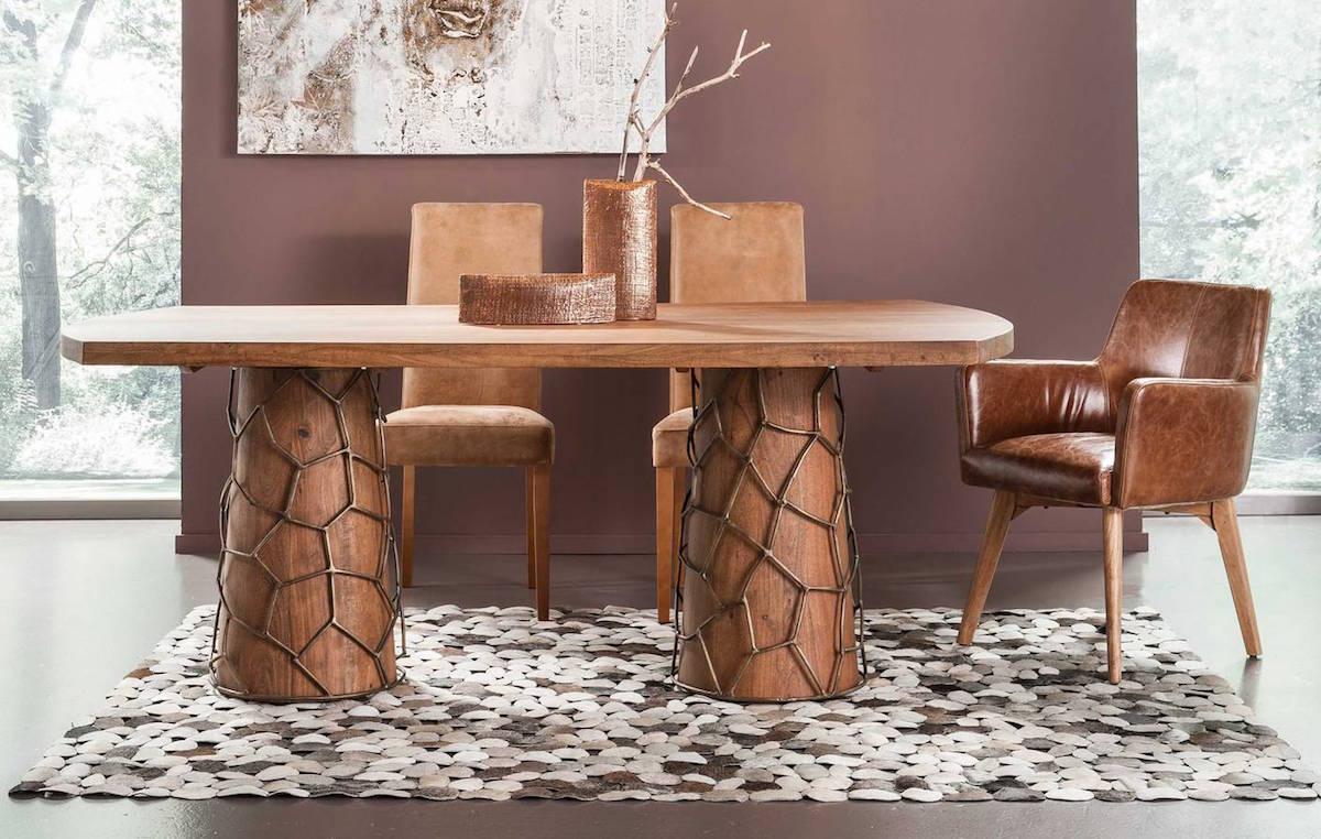 Kare-MeshBrass-table
