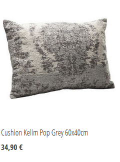 Cuchion Kelim Pop Grey 60x40cm
