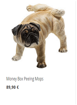 Money Box peeing Mops