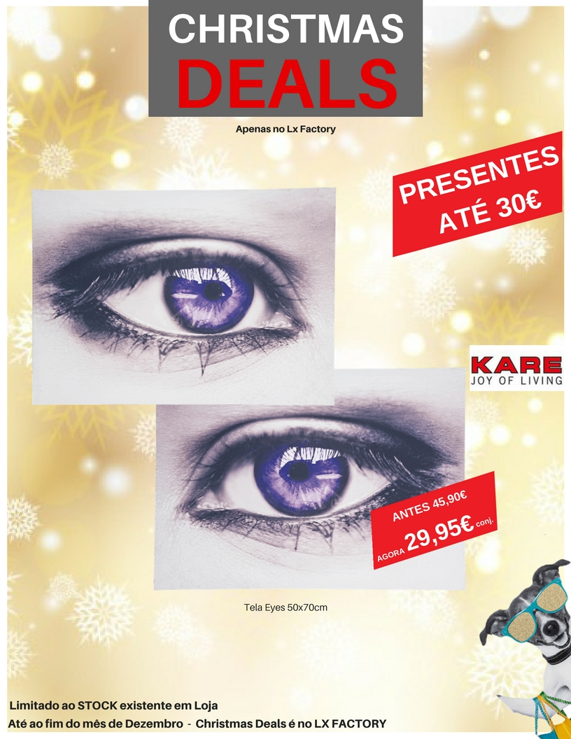 Special Christmas Deals eyes tela