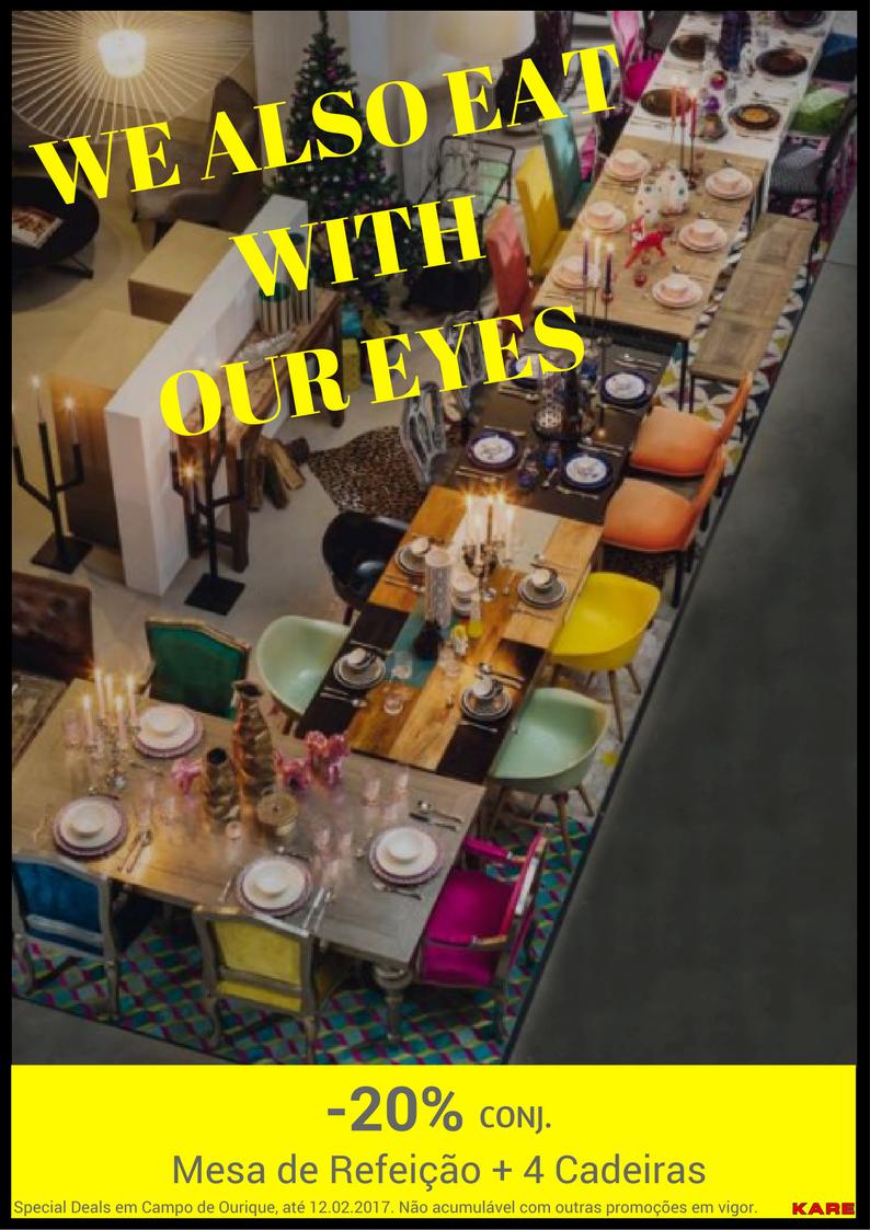 Mesas de jantar e cadeiras