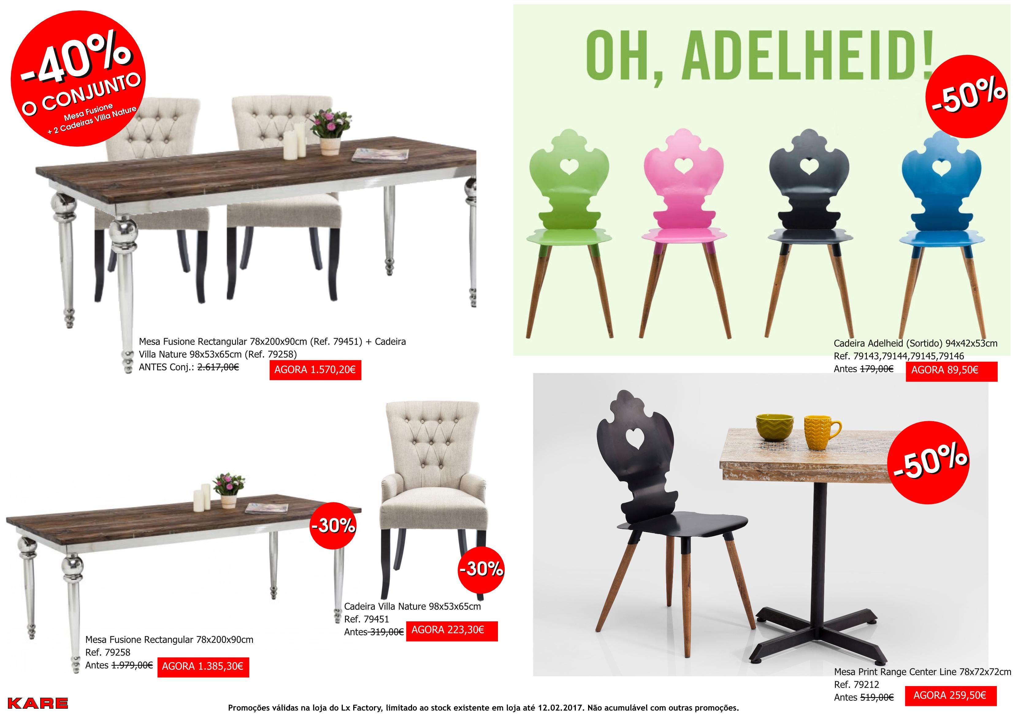 Promoções - cadeiras e mesa desire