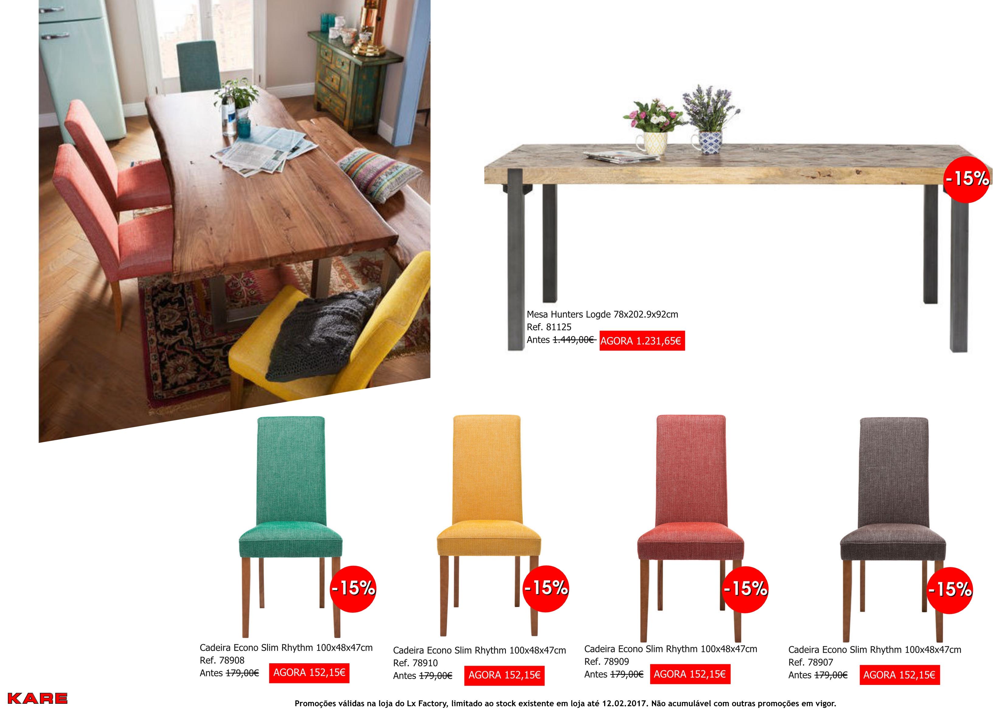 Promoções - cadeiras e mesa hunters slim rythm