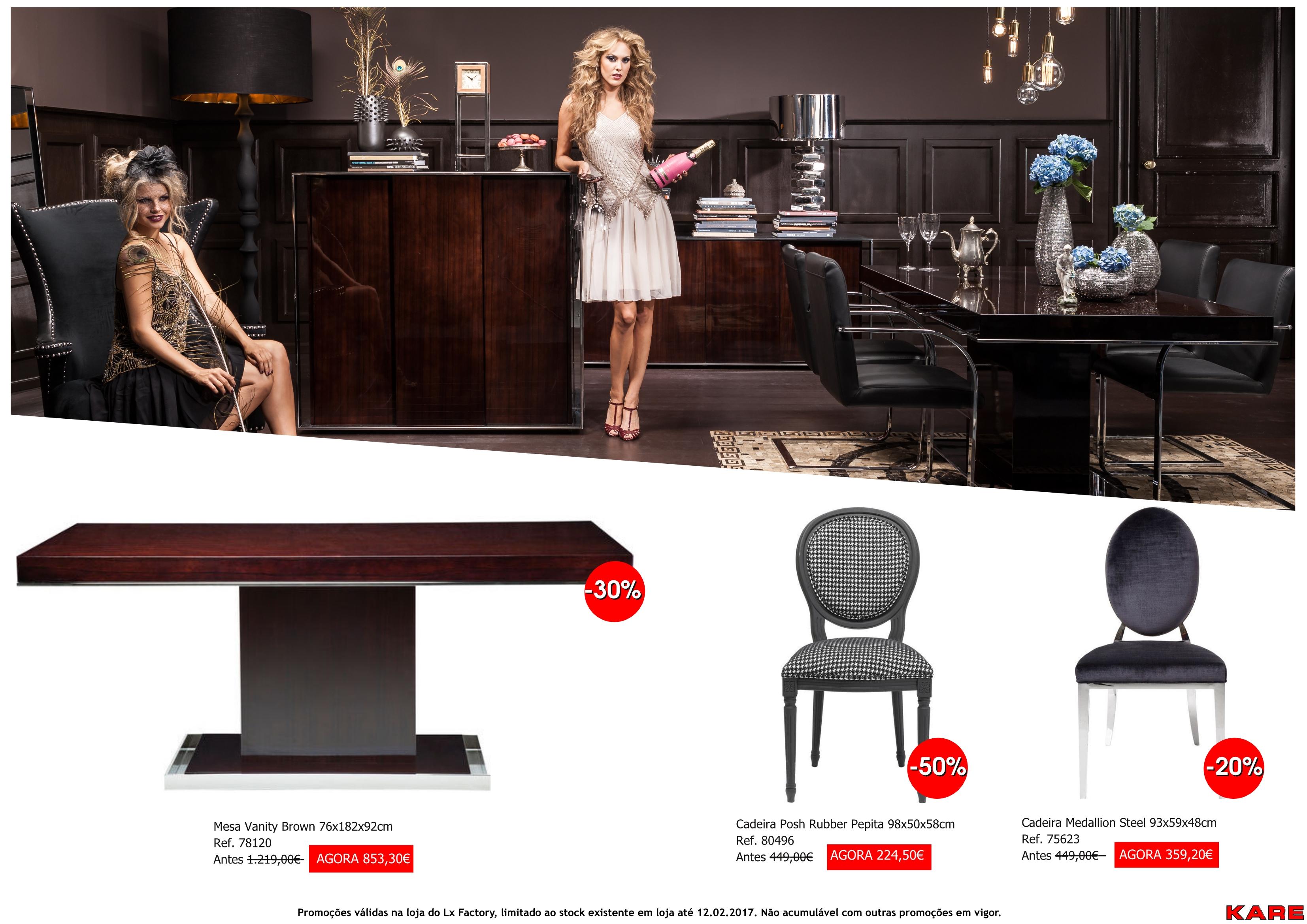 Promoções - cadeiras e mesa vanity