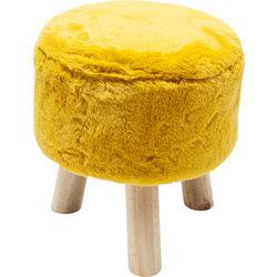 Stool Fur Yellow